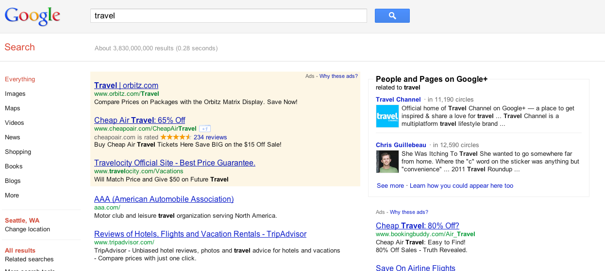 Google Plus in Search Results