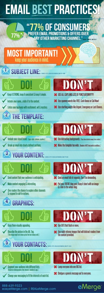 infographic email best practices
